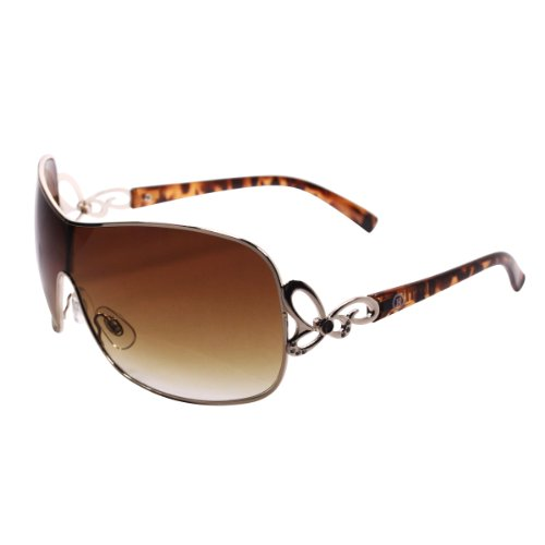 Gold Rim Sunglasses, Designer Style with Rhinestones, with Nice Case, - Sunglasses Womens For Rim Gold