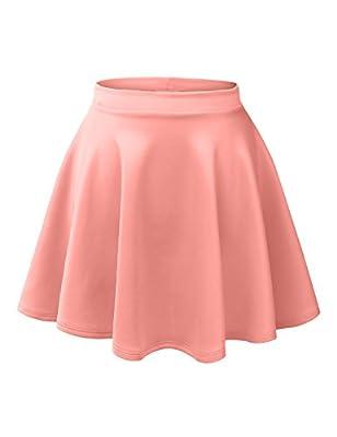 RK RUBY KARAT Womens Casual Flared Color Skater Skirt