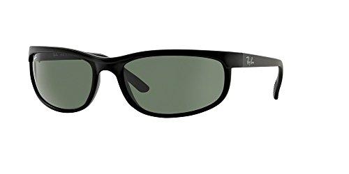 Ray-Ban RB2027 PREDATOR 2 W1847 62M Black/Matte Black/Crystal Green Sunglasses For Men For Women