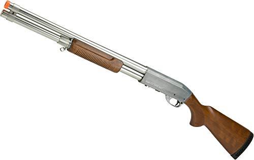 (Evike S&T M870 Type Full Metal Airsoft Training Shotgun (Version: Standard Version/Silver))