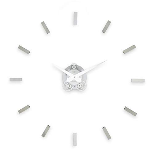 (INCANTESIMO Wall Clock, Illum Adhesive, High Density and Purity Methacrylate, Grey/Silver, 80 x 80 x 3 cm)