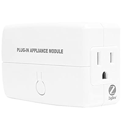ZigBee Module by Enerwave Plug-In Outlet for ZigBee Home Automation, Smart Outlet, Smart Switch Outlet, ZB-333 ZigBee Appliance Plug Module, White