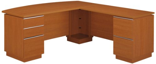 UPC 042976006112, Bush Right-L-Desk, 71-1/8-Inch by 81-1/2-Inch, Gold
