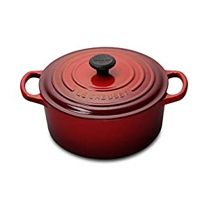 Le Creuset Enameled Cast Iron Signature Round Dutch Oven, 5.5 qt., Cerise