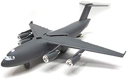C-17グローブマスター3 軍用大型長距離輸送機 ダークグレー ライト点灯 効果音 USエアフォース ハマー M1エイブラムス