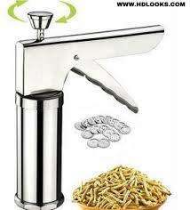 Idiyappam Noodle murukku kitchen press with 15 different shaps of blades by Gitachi 2 in 1