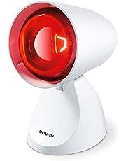 Ahorra en Beurer IL11 - Lámpara por infrarrojos compacta, 100 W, 5 niveles inclinación, alivio para dolores musculares, cervicales, mejora la circulación sanguínea, color blanco y más