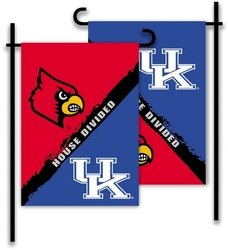 BSI PRODUCTS, INC. - Kentucky - Louisville-2-Sided Garden Flag - Rivalry House Divided Rivalry House Flag