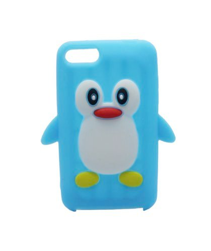 Tsmine for iPod Touch 2nd/3rd Gen Case Cover - Cute 3D Penguin Cartoon Soft Silicone Case Back Cover Protective Skin for Apple iPod Touch 2nd/3rd Gen, Light Blue