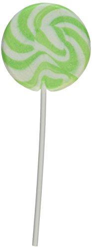 Fun Express - Apple Flavored Light Green Swirl Pops - Lollipop Suckers (2 dz)