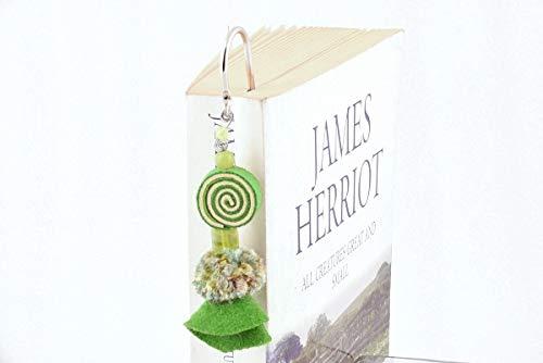 (Metal Hook Bookmarks (Set of 3 Assorted Colors) Handmade Felt Designs! Perfect Women, Teens, Students Stocking Stuffers!)
