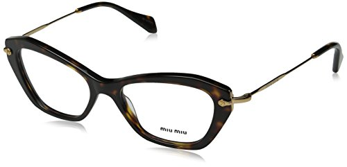 Miu Miu MU04LV Eyeglasses-2AU/1O1 - Cat Miu Sunglasses Miu Eye Tortoise
