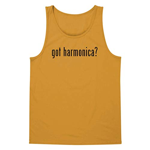 - The Town Butler got Harmonica? - A Soft & Comfortable Men's Tank Top, Gold, X-Large