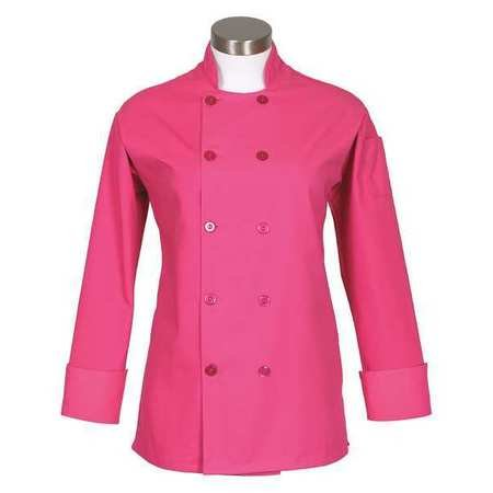 Fame Women's Long Sleeve Chef Coat (medium, Raspberry)