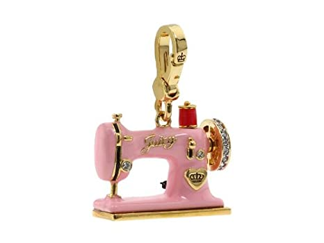 Juicy Couture Sewing Machine Bracelet Charm Gold Amazoncouk Clothing Best Juicy Couture Sewing Machine Charm