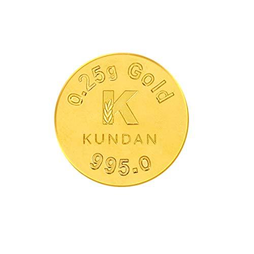 Kundan 24k (995) 0.25 gm Yellow Gold Coin