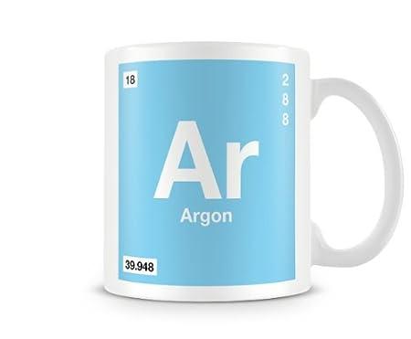 Periodic Table Of Elements 18 Ar Argon Symbol Mug Amazon