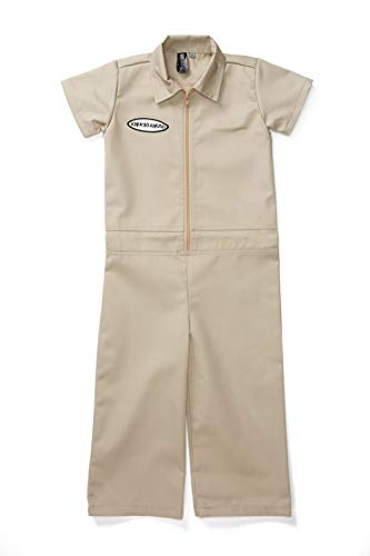 Born to Love Knuckleheads - Infant and Baby Boy Grease Monkey Coveralls Tan 5T]()