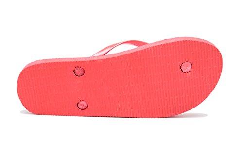 Rojo 39 Para Airee Mujer playa EU Fairee Piscina 38 Rayas Naúticas y Chanclas Rojo Rayas g7waqaz