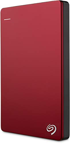 Seagate Backup Plus Slim 2TB USB 3.0 Portable External Hard Drive - RED