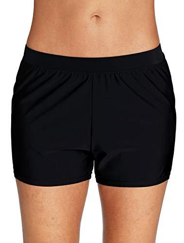 ATTRACO Women Swimsuit Shorts Tankini Swim Briefs Bottom Boardshort Summer Beach Swimwear Trunks L
