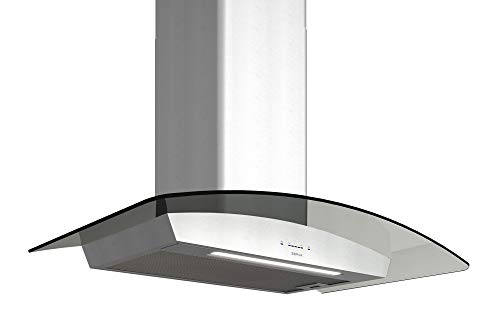 Zephyr ZRV-E30BGG 600 CFM 30 Inch Wide Wall Mount Range Hood with ICON Touch Controls, BriteStrip LED lighting and Airflow Control Technology from the Essentials Europa Collection