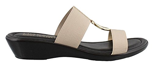 Easy Street Women's Tuscany by, Donata Low Heel Sandals Natural 8 (Tuscany Natural)