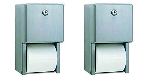 Bobrick B-2888 Classic Series Surface-Mounted Multi-Roll Toilet Tissue Dispenser, Satin (2-(Pack))