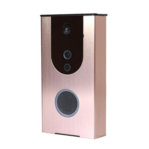 Dolity Wireless Video Doorbell Video Intercom Door Bell Security Camera Night Vision - Rose Gold by Dolity