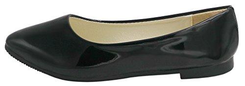AgeeMi Shoes Femme Luccichio Bout Pointue Chaussures à Plat Noir vsWD7F7RZ
