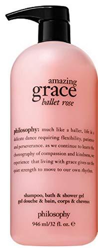 Philosophy Amazing Grace Ballet Rose Shampoo, Bath Shower Gel 32 oz