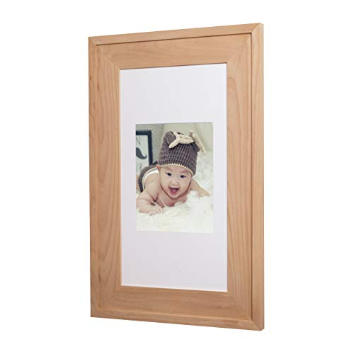 (14x24 Unfinished #2 Concealed Medicine Cabinet (Extra Large), a Recessed Mirrorless Medicine Cabinet with a Picture Frame)