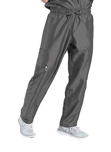 - TiScrubs Men's Relaxed Fit Cargo Pocket Scrub Pants (Medium Tall, Dark Titanium)