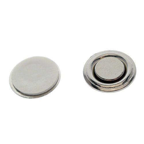 50 Pack - Small Round Button & Badge Magnets - Strong Magnetic Nametag and Lapel Pin Holders with Sticker Adhesive Backing by Specialist ID