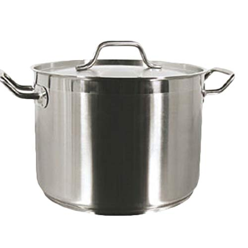32 Qt Stock Pot W/Lid Stainless Steel Commercial Grade -NSF Certified- *Professional Quality* Chefs Pal