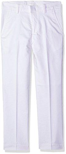 Izod Big Boys' Formal Dress Pant, White Linen, 16 -