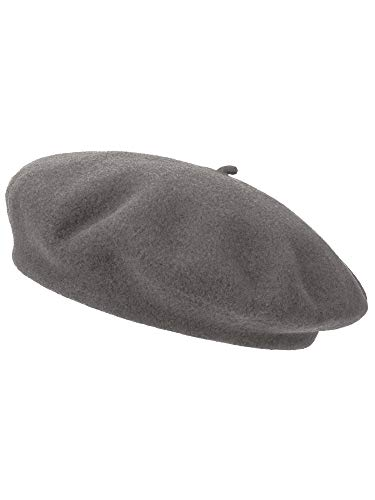 - Emmalise French Style Beret Hats Women Lightweight 100% Wool Classic Fit - Ash Grey Cendre Grise, Adult One Size,One Size Adult
