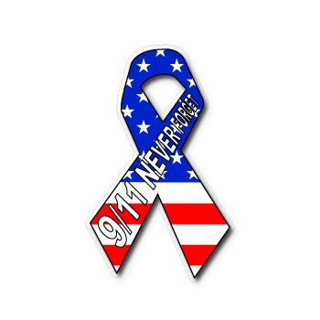 9 11 never forget september 11 usa flag remember window bumper sticker