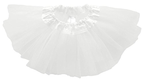 Dancina Tutu Baby Girls Cute Princess Dress up Costume Soft Tulle Skirt Outfit 6-24 months White (Ruffled White Pettiskirt)