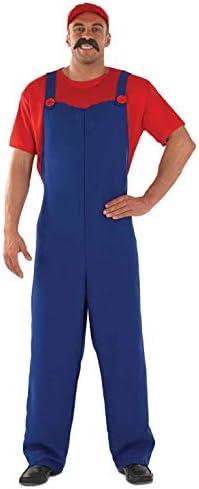 Plumbers - Disfraz de súper Mario Bros para hombre, talla 52-56 ...