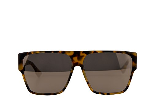 Christian Dior DiorHit Sunglasses Yellow Red Havana w/Ivory Mirror Lens 62mm EPZQV DiorHit/S Dior ()