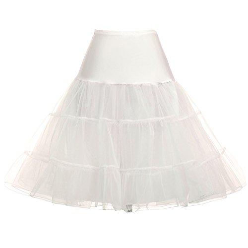 Half Vintage Slip (GRACE KARIN Women Multicolor Vintage Half Slips Swing Crinoline Petticoat (L, 922-9))