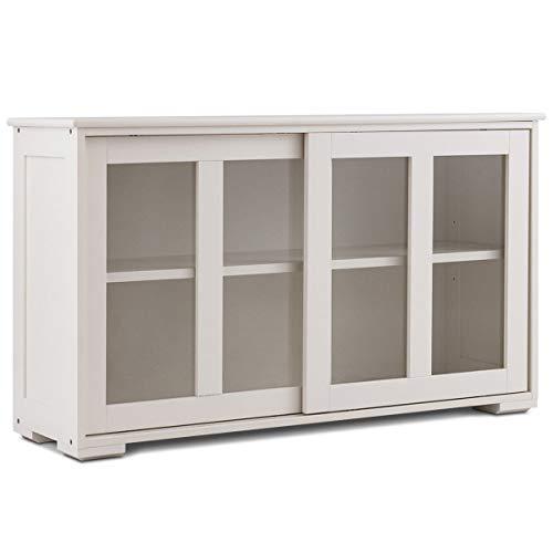 Amazon Com White Storage Cabinet Sideboard Buffet