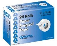 Dynarex Surgical Paper Tape Surgical 1/2 Inch x10yd, 24 Count