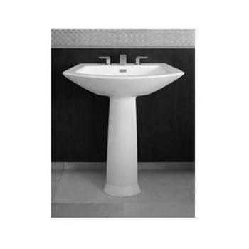 Toto LPT962#01 25 1/8 Inch By 18 1/2 Inch Soirée Pedestal Lavatory, Cotton