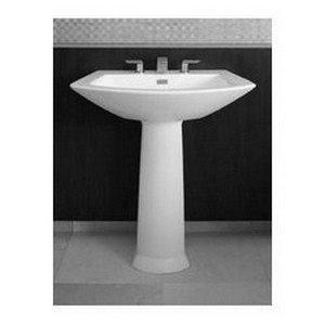 (Toto LPT962#01 25-1/8-Inch by 18-1/2-Inch Soirée Pedestal Lavatory,)