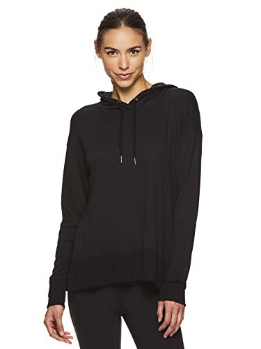 Gaiam Womens Pullover Yoga Hoodie - Lightweight Activewear & Workout Sweater