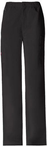 Dickies Men's Xtreme Stretch Zip Fly Pull-On Scrub Pant, Black, X-Large