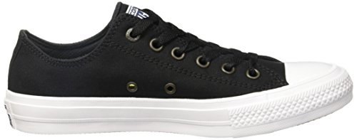 Converse Unisex Chuck Taylor II Ox Black/White/Navy Casual Shoe 10.5 Men US