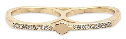 Harley Davidson Womens Two Finger Gold Plated 97855 16VW